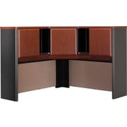 Bush Business Cubix 48W Corner Hutch, Hansen Cherry/Galaxy