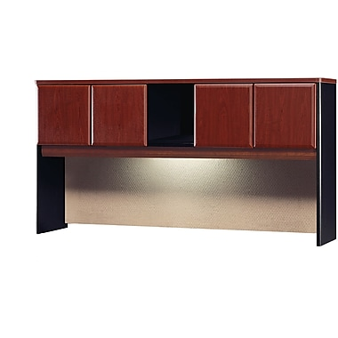 Bush Cubix 72in. Hutch, Hansen Cherry/Galaxy