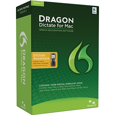Dragon Dictate 3.0 Mobile Edition for Mac (1-User) [Boxed]