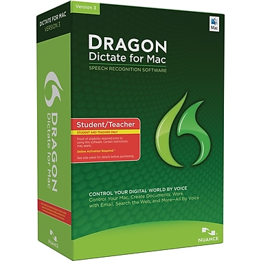 Dragon Dictate 3.0 Student/Teacher Edition for Mac (1-User) [Boxed]