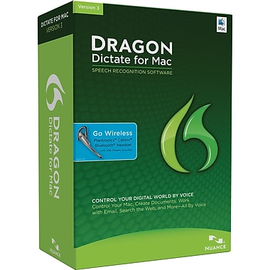 Dragon Dictate 3.0 Wireless Edition for Mac (1-User) [Boxed]