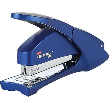 Staples One-Touch Aero Full Strip Stapler, 20-Sheet Capacity, Blue (23078)
