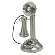 Crosley CR64 Candlestick Phone, Brushed Chrome
