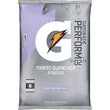 Gatorade® 6 gal Yield Instant Powder Dry Mix Energy Drink, 51 oz Pack, Riptide Rush