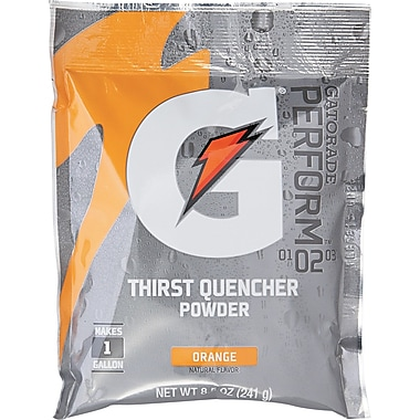 Gatorade® 1 gal Yield Instant Powder Dry Mix Energy Drink, 8.5 oz Pack, Orange