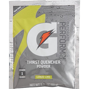 Gatorade® 1 qt Yield Powder Dry Mix Energy Drink, 2.12 oz Pack, Lemon-Lime