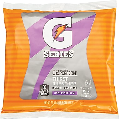 Gatorade® 2 1/2 gal Yield Instant Powder Dry Mix Energy Drink, 21 oz Pack, Riptide Rush