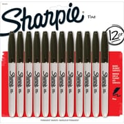 Sharpie® Fine Point Permanent Markers, Black, 12/pk (1812419)