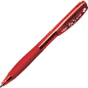 BIC® BU3 Ballpoint Retractable Pens, Medium, Red, 12/Pack