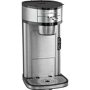 Hamilton Beach The Scoop Single-Cup Coffee Maker, Stainless Steel