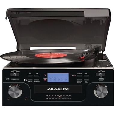 Crosley CR6008A Tech Turntable, Black
