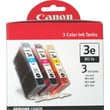 Canon BCI-3e C/M/Y Color Ink Cartridges (4480A263), Combo 3/pack