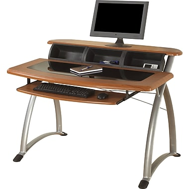 Ergocraft Tesso Computer Desk, Cherry