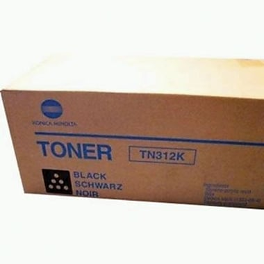 Konica Minolta TN-312K Black Toner Cartridge (8938-701), High Yield