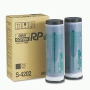 Risograph Black Ink Cartridge (S-4202), High Yield 2/Pack