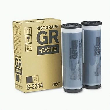 Risograph Black Ink Cartridge (S-2314), High Yield 2/Pack