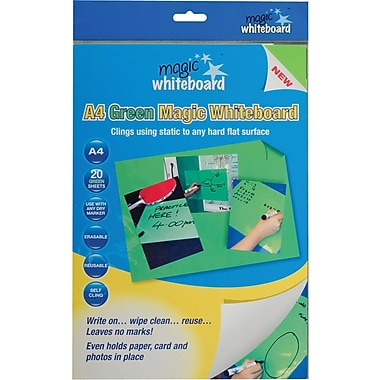 Magic Whiteboards Magic Whiteboard 20 Green Sheets
