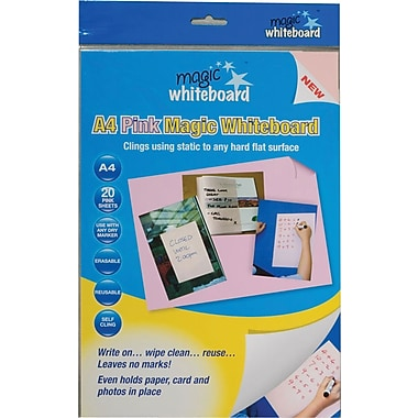 Magic Whiteboards Magic Whiteboard 20 Pink Sheets