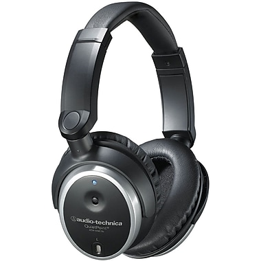 Audio-Technica QuietPoint Active Noise-Canceling Headphones, Black
