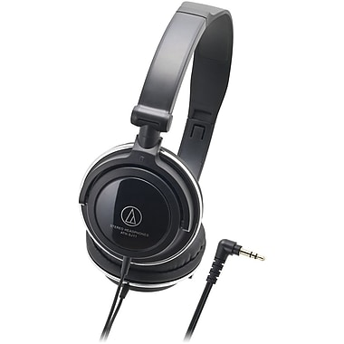 Audio-Technica On-Ear Headphones with Rotating Earpieces, Black