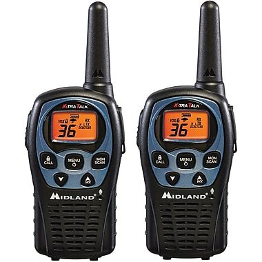 Midland 26 Mile Range 36 Channel Two-Way Radio Pair, Black