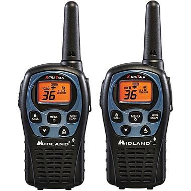 Midland 26 Mile Range 36 Channel Two-Way Radio Pair, Black