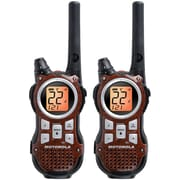 Motorola 35-mile Talkabout Rechargeable Two-Way Radio Pair, Wood Grain Brown