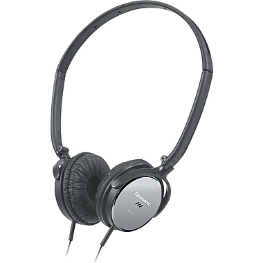 Panasonic Lightweight On Ear Noise Canceling Headphones, Black