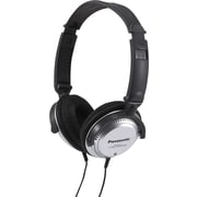 Panasonic Monitor Headphones with In-Cord Volume Control, Silver/Black