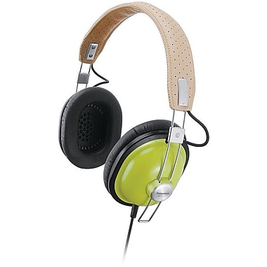 Panasonic Old School Style Monitor Stereo Headphones, Green