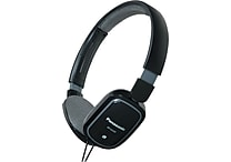 Panasonic Lightweight On-Ear Headphones with iPhone/iPod Controller, Black