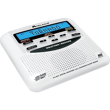 Midland 25 Code S.A.M.E. Weather Alert Radio, Black