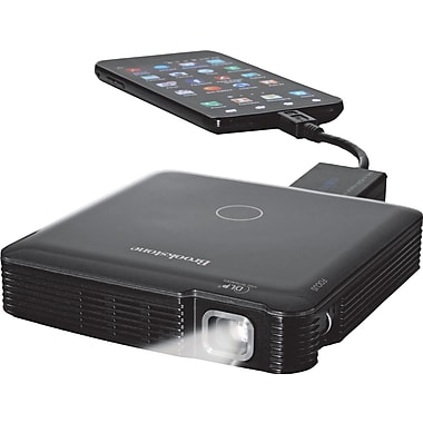 Brookstone HDMI Pocket Projector, Black