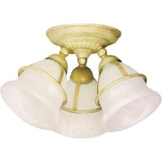 Catalina 3 Light Brass Ceiling Light