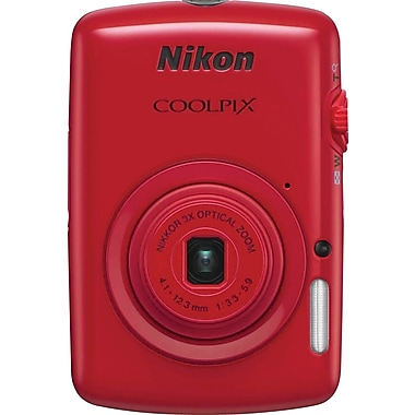 Nikon COOLPIX S01 Digital Camera, Red