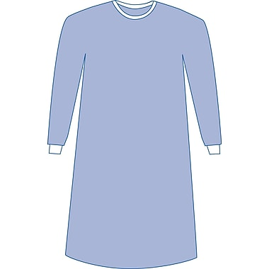 Eclipse® Non-sterile Non-reinforced Surgical Gowns, Blue, Large, Hook and Loop, 50/Pack