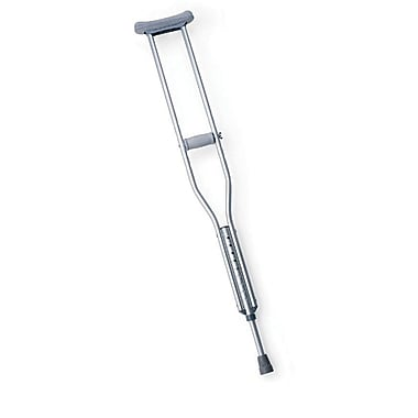 Medline Push-button Aluminum Crutch, Adult, Each