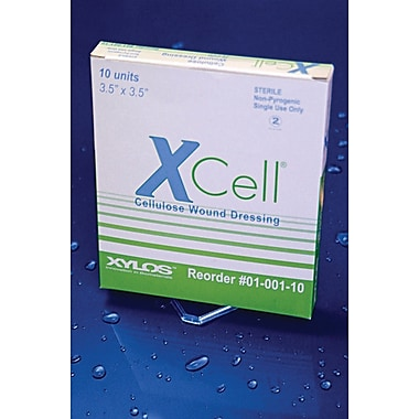 XCell® Wound Dressings, 3 1/2in. L x 3 1/2in. W, 10/Box