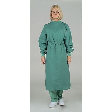 Medline Tunnel Belt Surgeons Gowns, Jade Green, Large, Tie Neck and Back, Each