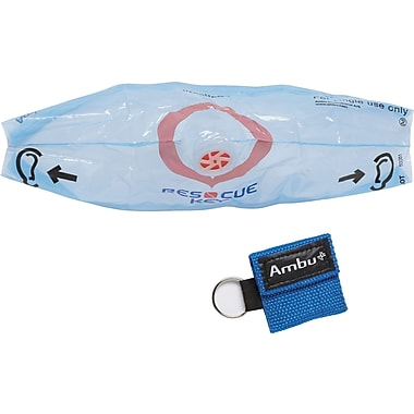 Ambu® CPR Barrier Masks with Key Chain, Blue