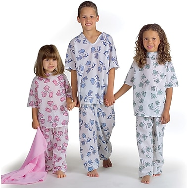 Animal Friends® Pediatric Gowns, Pink Animal Friends® Print, Small, Dozen