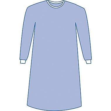 Aurora Non-sterile Non-reinforced Surgical Gown, Blue, Large, Hook and Loop, 50/Pack