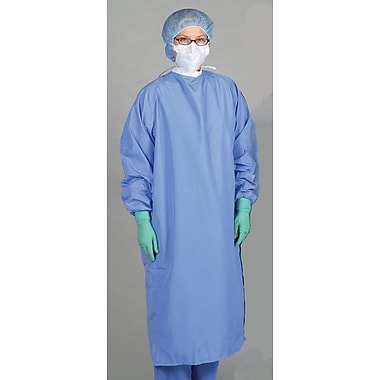 Blockade® 1-ply Surgeon Gown, Ceil Blue, Large, Tie Neck and Back, Dozen