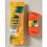 Medline Single Blade Facial Razors, Orange, 50/Box