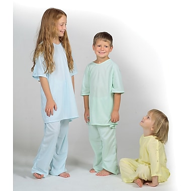 Comfort Knit® Pediatric Gowns, Blue, Large, Dozen