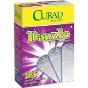 """Curad® Dazzle Adhesive Bandages, Foil Holographic, 3"""" L x 3/4"""" W, 25 Bandages/Box, 6 Boxes/Case"""