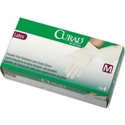"Curad® Powder-free Latex Exam Gloves, Beige, Small, 9"" L, 1000/Pack"