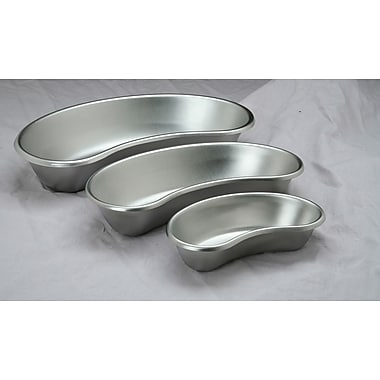 Medline Emesis Basins, Stainless Steel Color, 10 oz