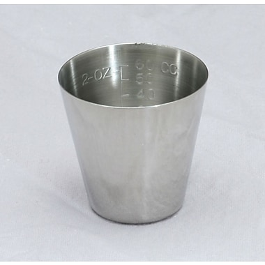 Medline Non-sterile Graduated Stainless Steel Medicine Cups, 2 oz, 12/Pack