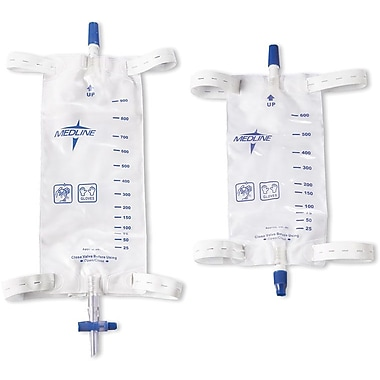Medline Leg Bags with Comfort Straps